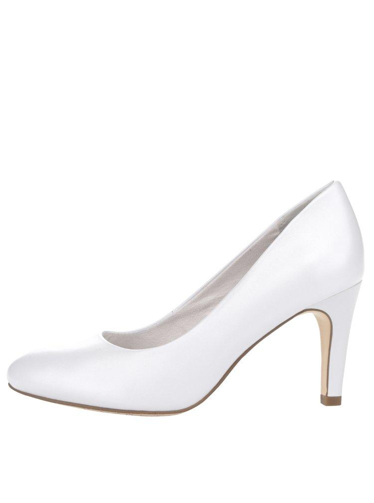 Pantofi albi Tamaris din piele