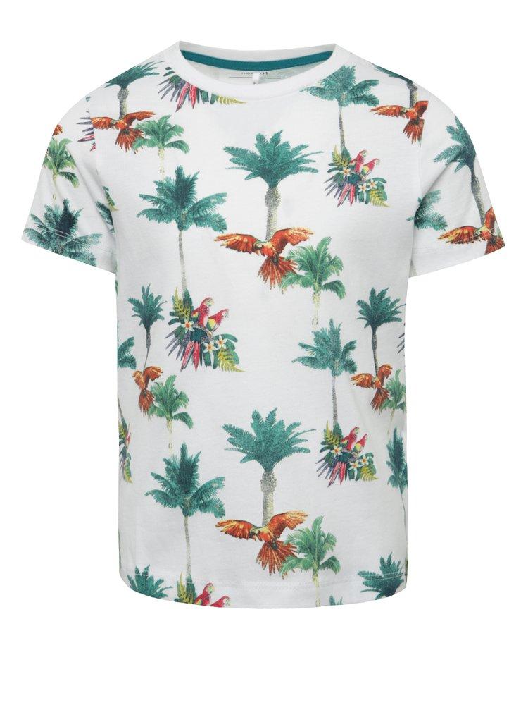 Tricou alb name it Surf din bumbac organic cu model pentru băieți