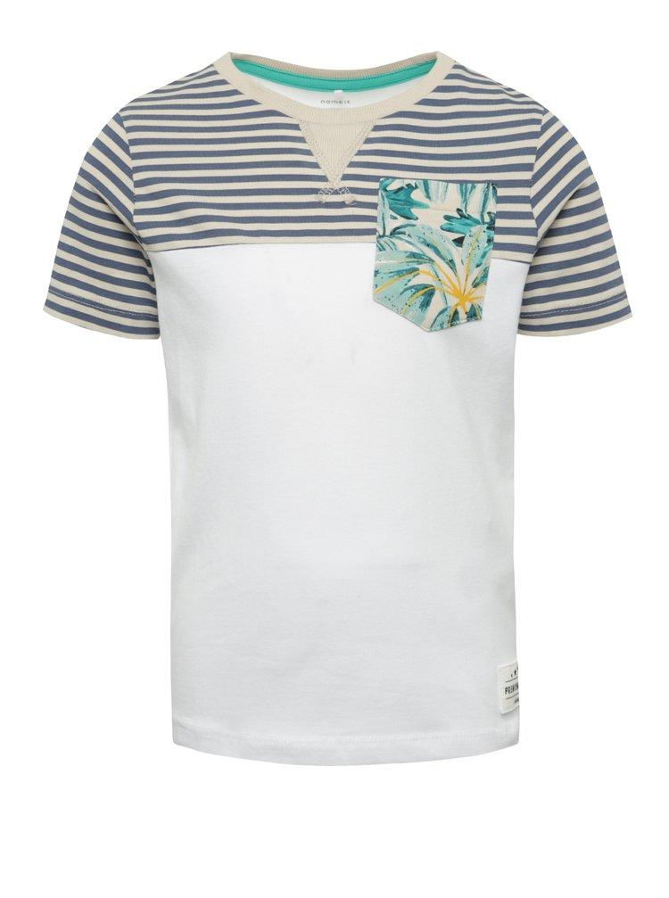 Modro-bílé klučičí pruhované triko name it Kristian