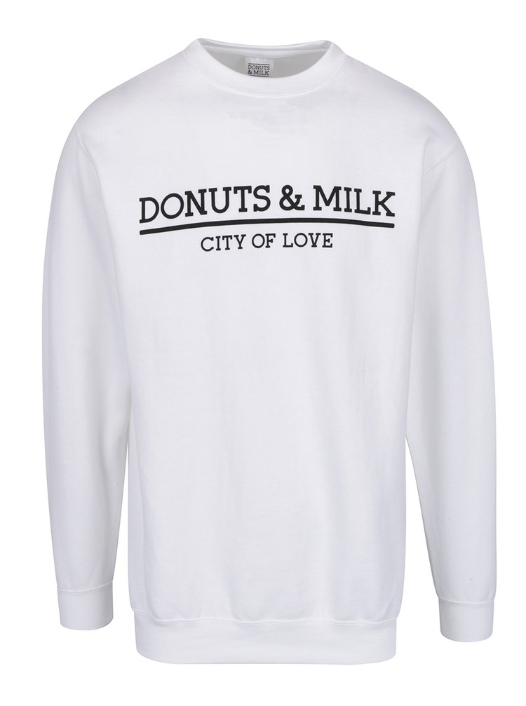 Bluză sport albă Donuts & Milk unisex