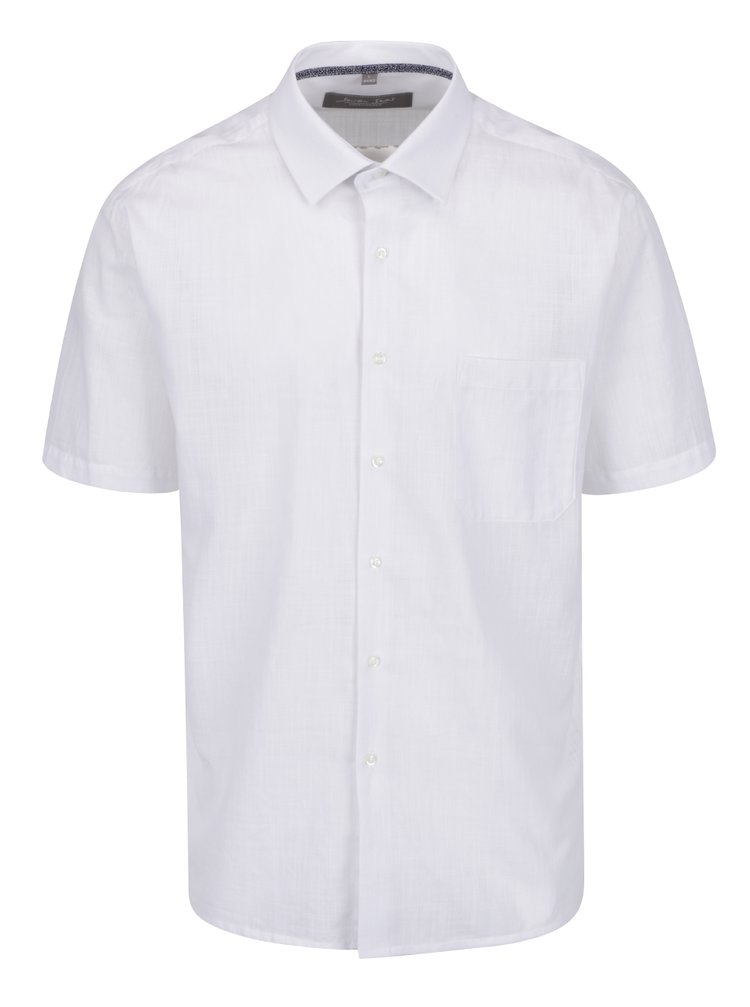 Bílá neformální žíhaná košile Seven Seas