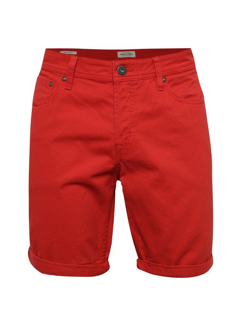 Červené džínové kraťasy Jack & Jones Rick