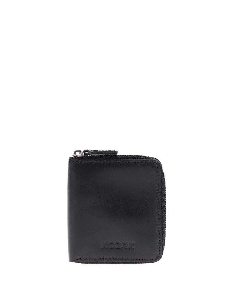 Čierna kožená unisex peňaženka KOZAK Daniel