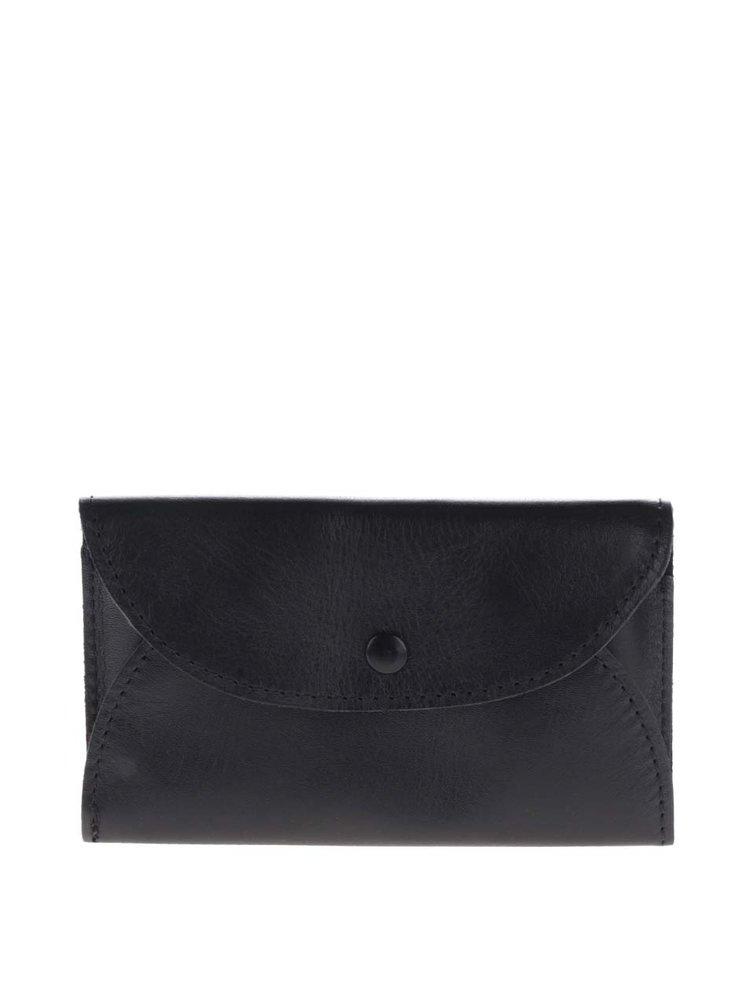 Čierna kožená dámska mini peňaženka na mince KOZAK