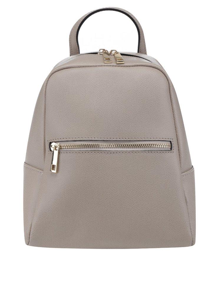 Béžový dámský kožený batoh ZOOT