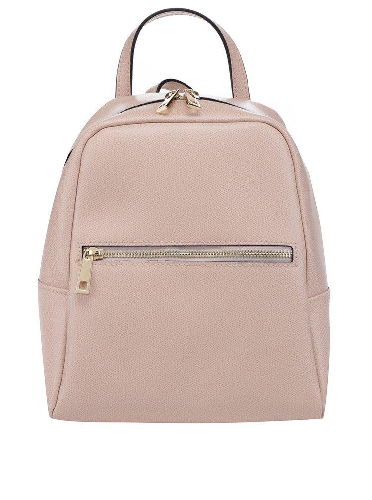 Starorůžový dámský kožený batoh s kapsou ZOOT
