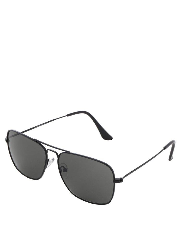 Hnědé vzorované sluneční brýle Jack & Jones