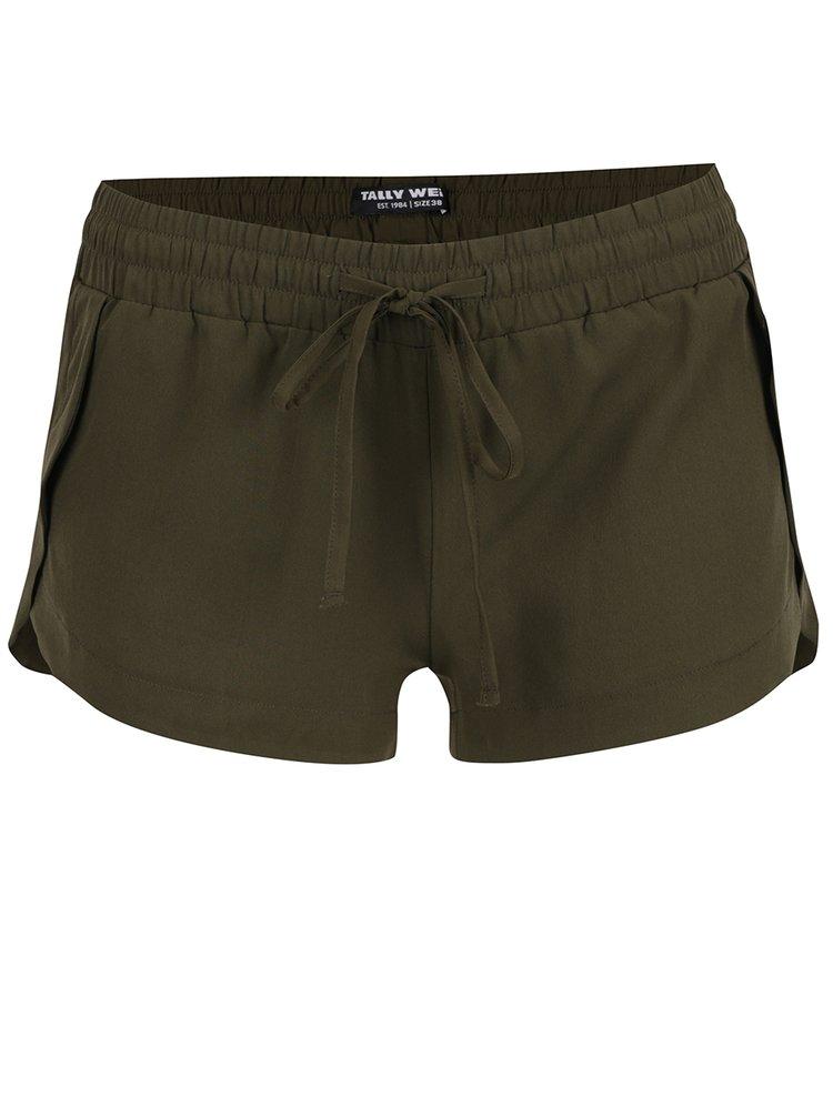 Pantaloni scurți kaki TALLY WEiJL cu talie elastică