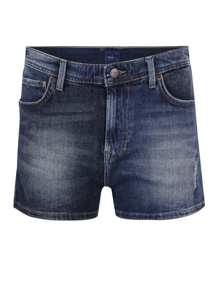Pantaloni scurți albaștri din denim Pepe Jeans Patchy