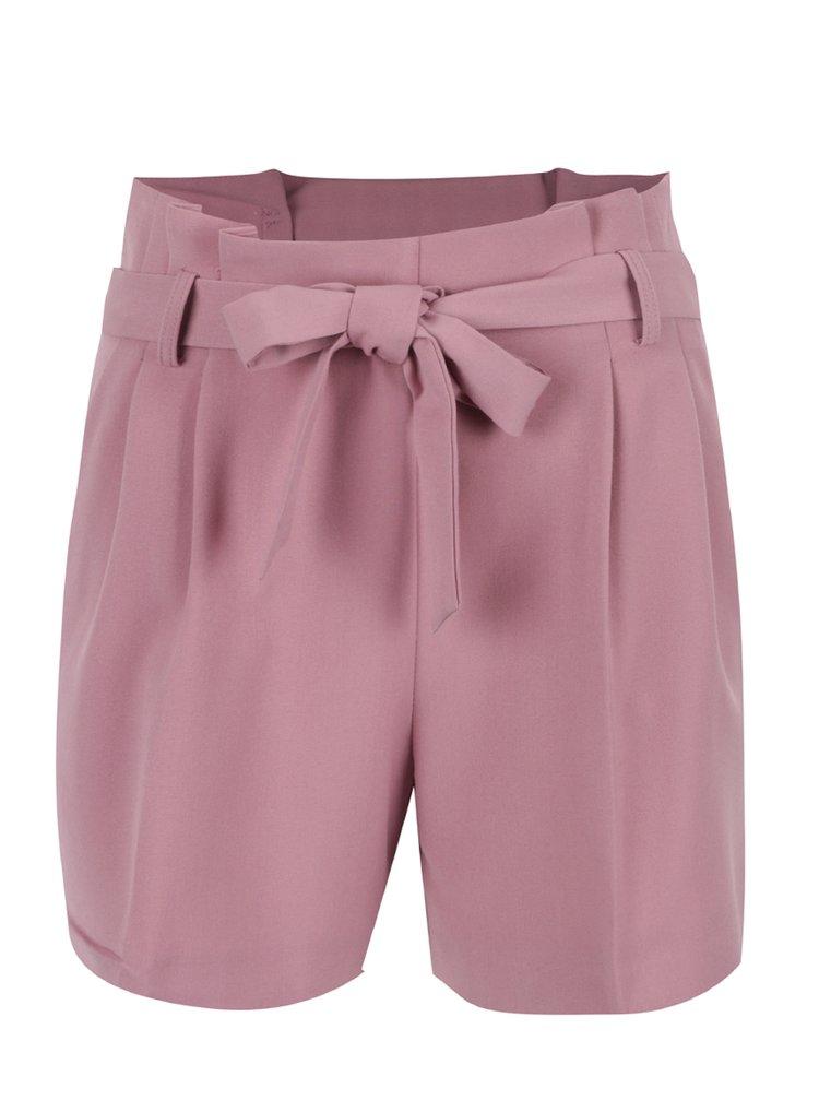 Pantaloni scurti roz Miss Selfridge cu cordon