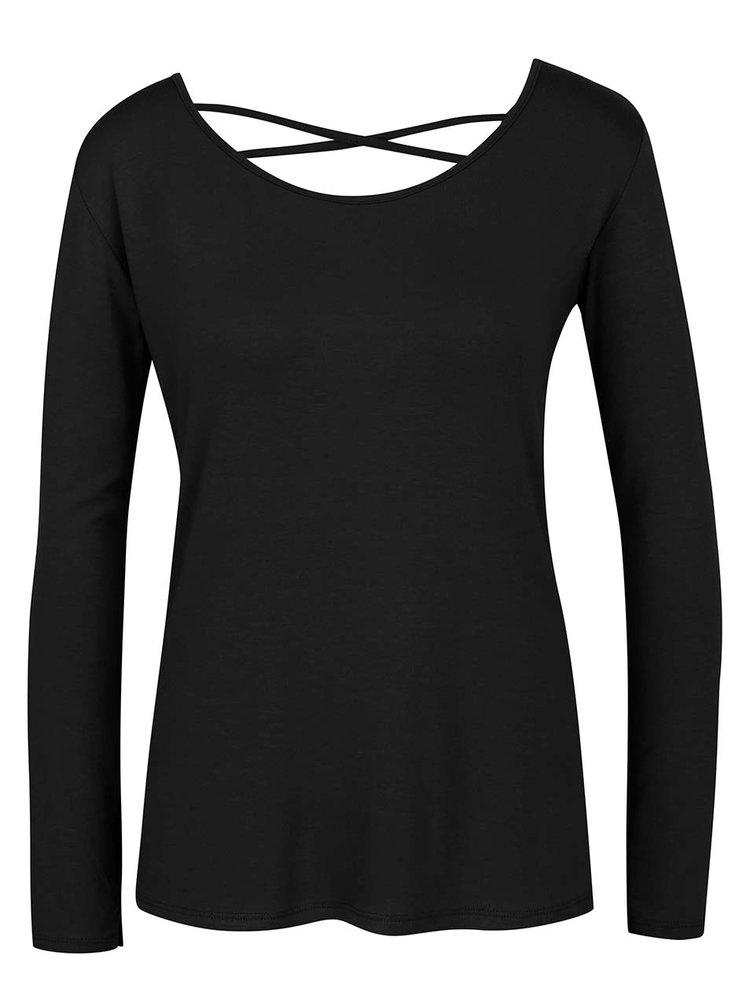 Bluză neagră ZOOT cu șiret încrucișat la spate