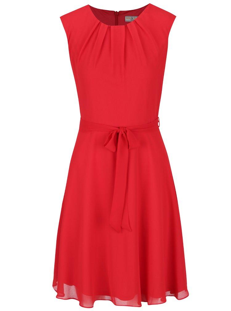 Červené šaty se zavazováním Billie & Blossom