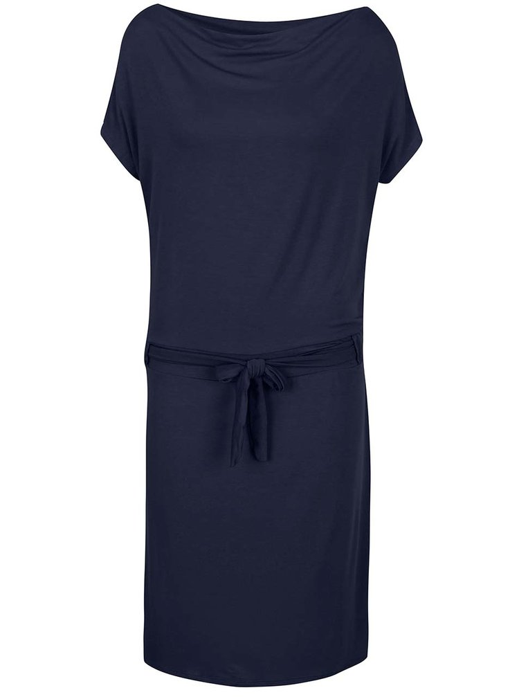 Tmavě modré šaty s lodičkovým výstřihem ZOOT