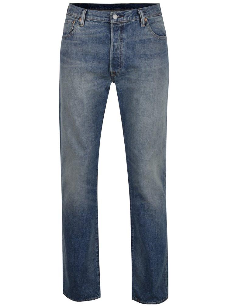 Světle modré pánské džíny s vyšisovaným efektem Levi's® 501™