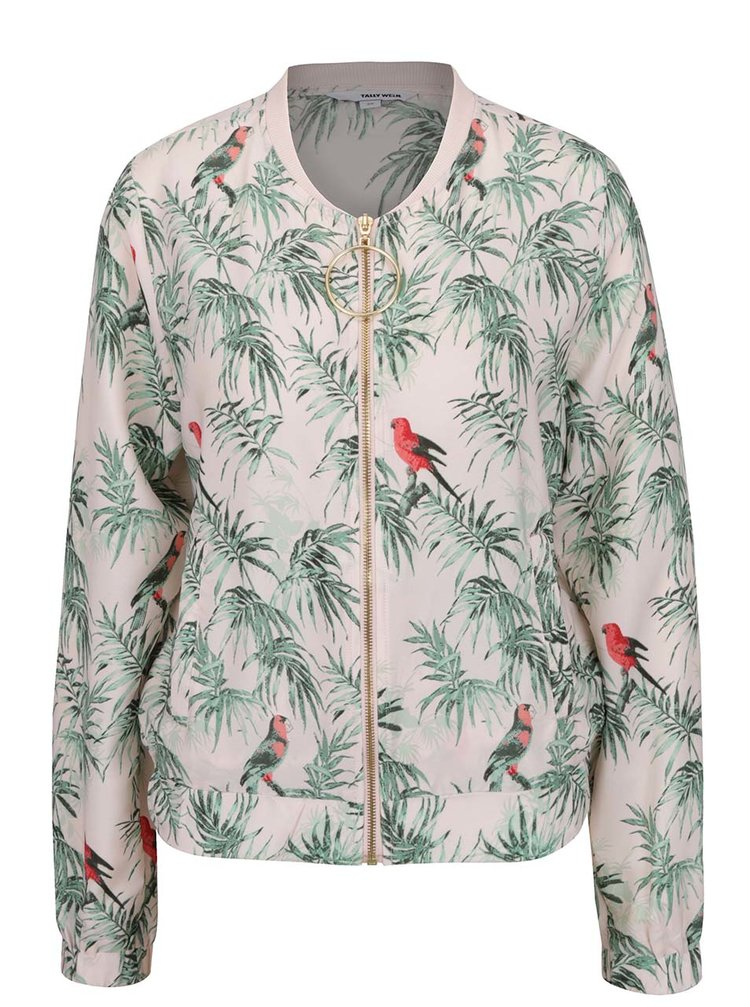 Jachetă bomber roz pal TALLY WEiJL cu imprimeu