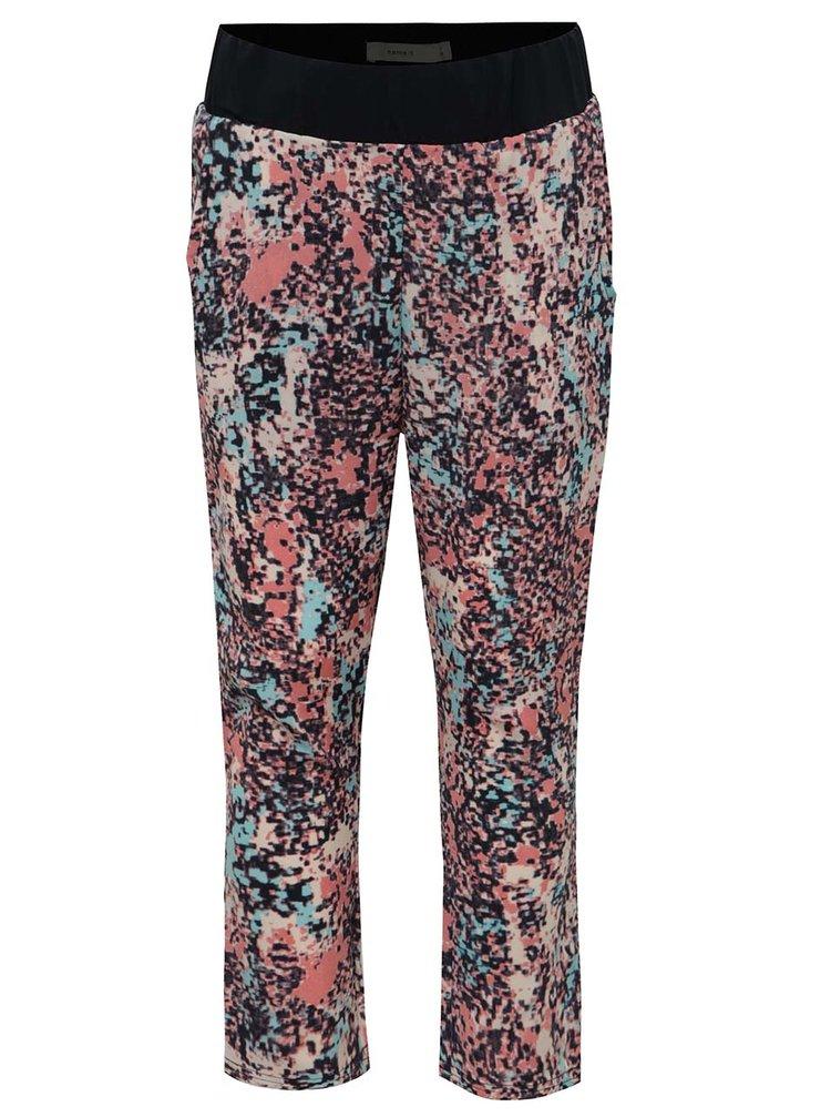 Modro-růžové holčičí vzorované kalhoty name it Diluna