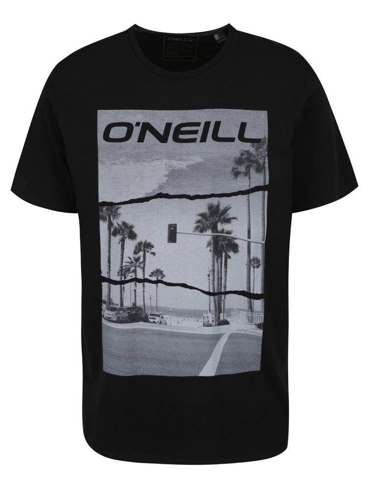 Tricou negru O'Neill cu imprimeu