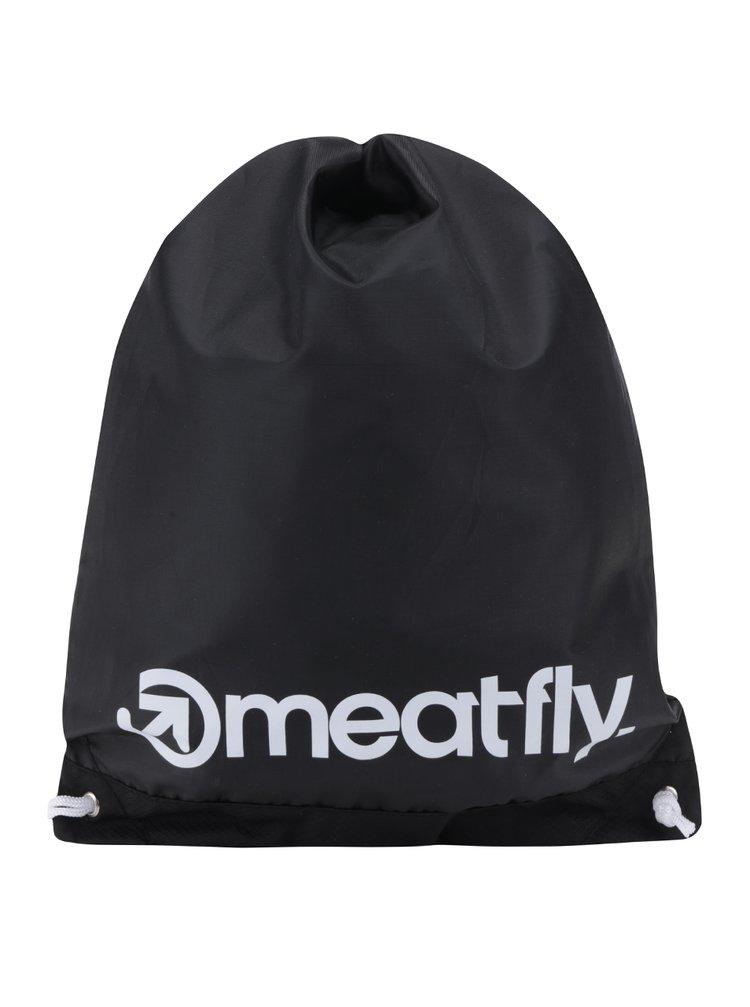 Rucsac negru unisex MEATFLY Flatout cu logo