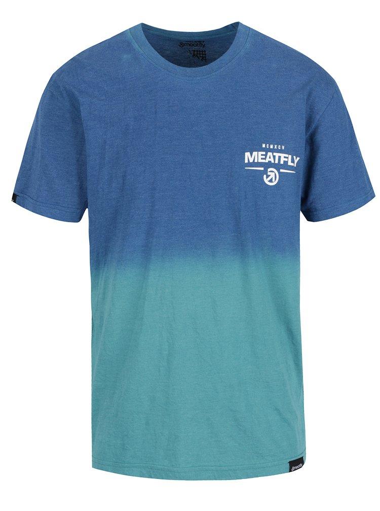 Zeleno-modré pánské tričko MEATFLY Spill