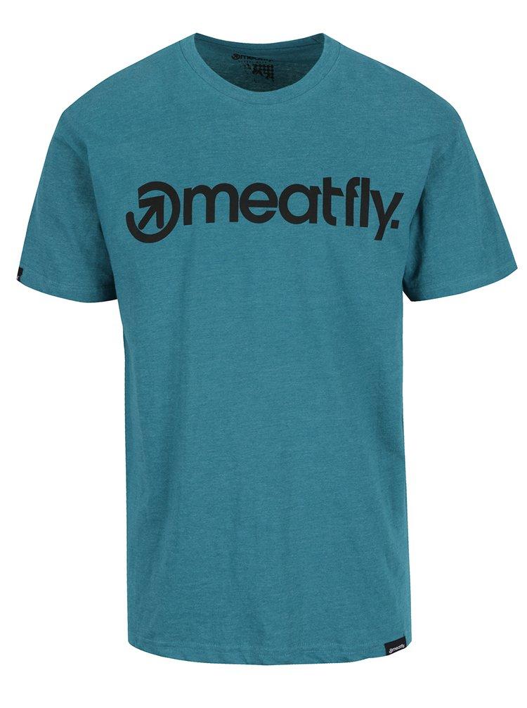 Tricou verde MEATFLY Logo cu logo pentru bărbați