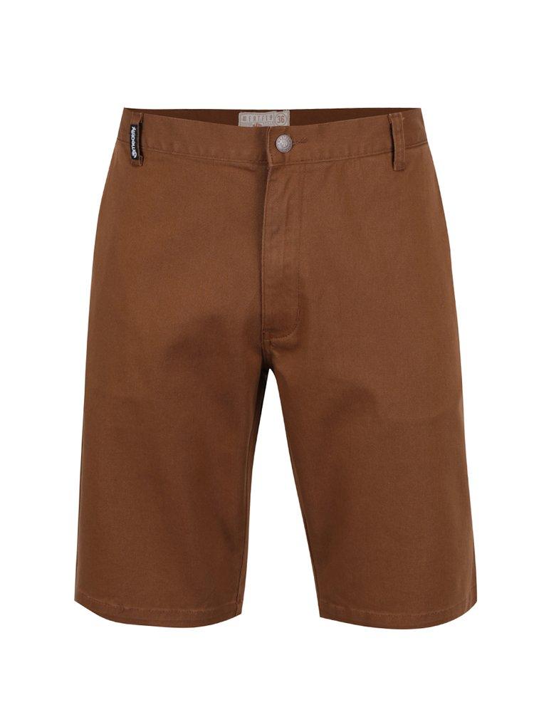 Pantaloni scurți maro MEATFLY Anthrax 17