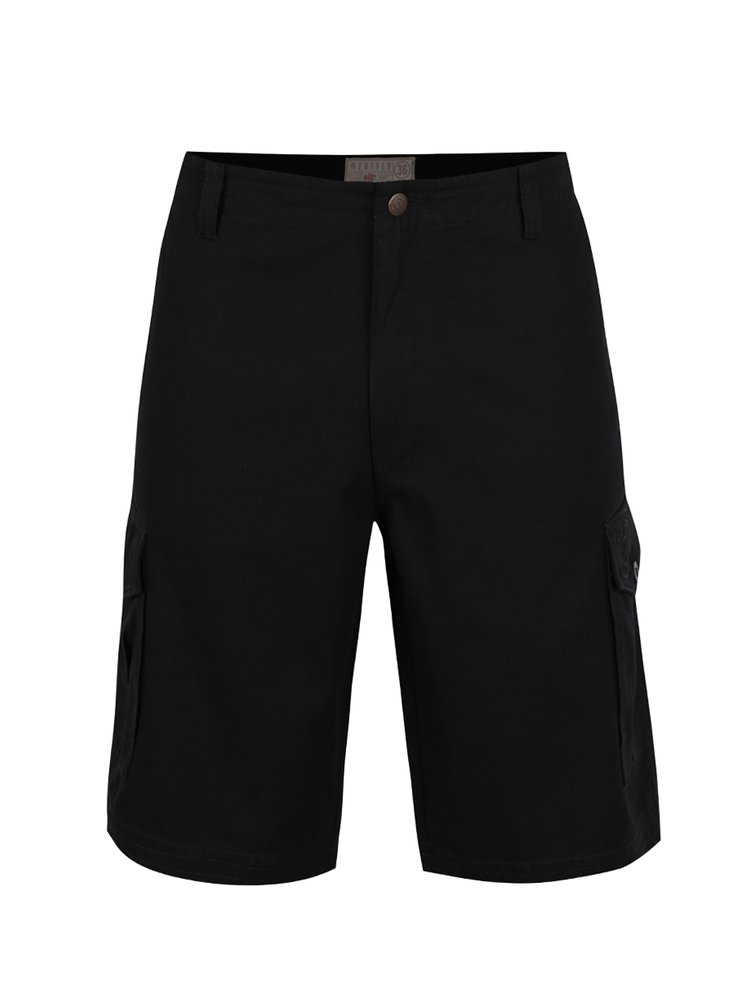 Pantaloni scurți negri MEATFLY Icon din bumbac