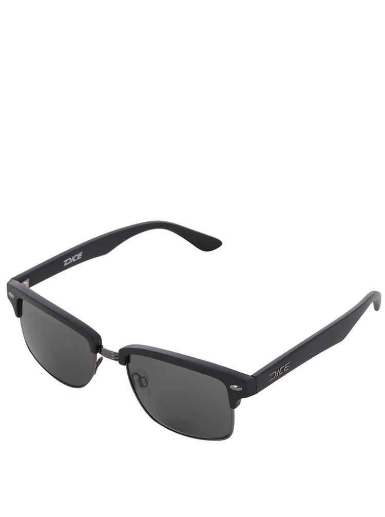 Černé pánské sluneční brýle Dice Metal Plastic