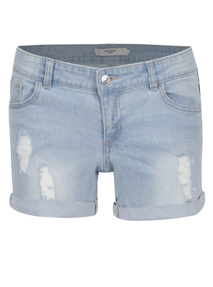 Pantaloni scurți albastru deschis VERO MODA Be Five din denim