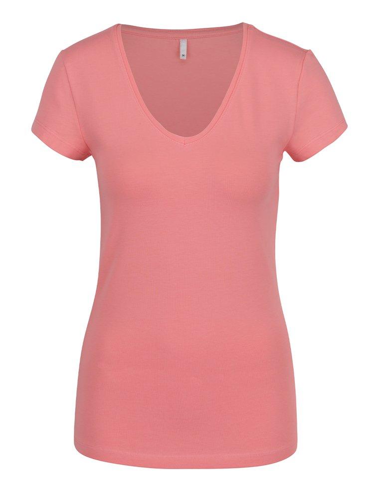 Tricou rosu capsuna ONLY Live Love