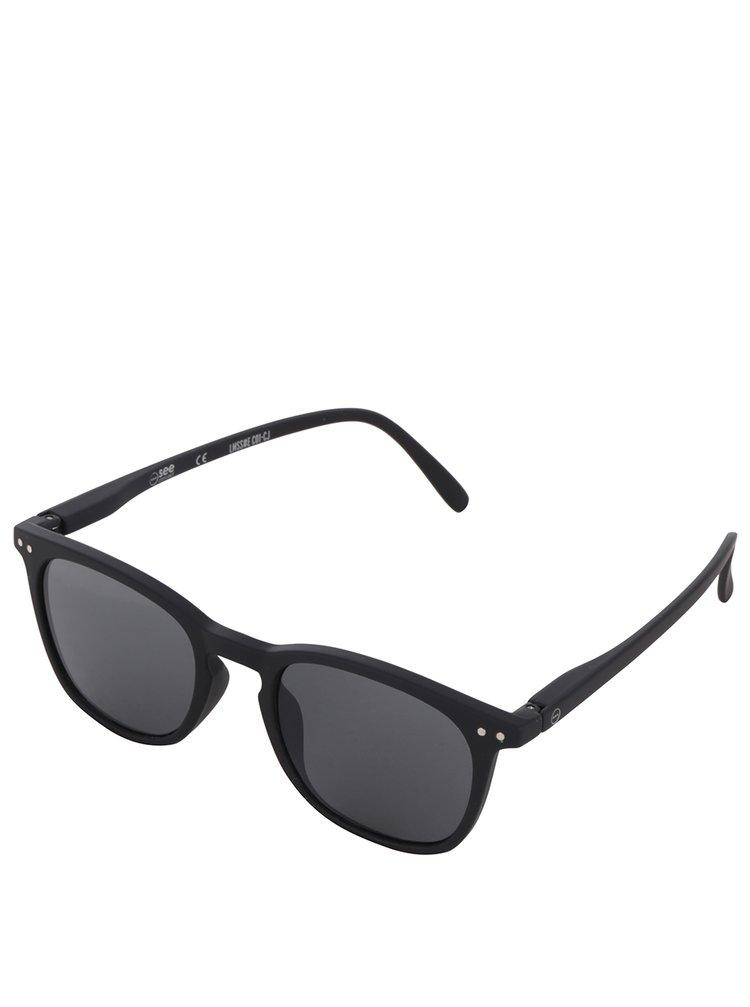 Černé unisex sluneční brýle s černými skly IZIPIZI #E