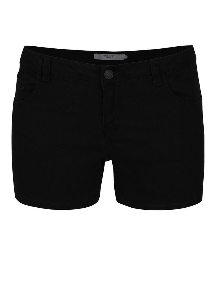 Pantaloni scurți negri VERO MODA Five din denim