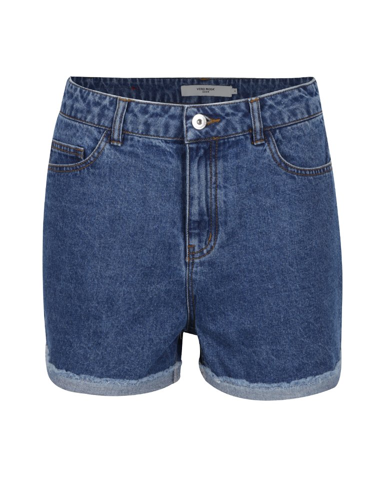 Pantaloni scurți albaștri VERO MODA Be Nineteen din denim