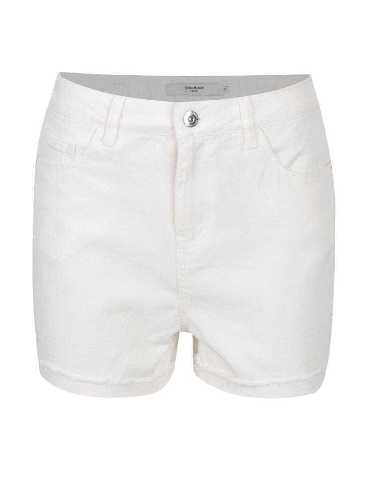 Pantaloni scurți albi VERO MODA Be Nineteen din denim