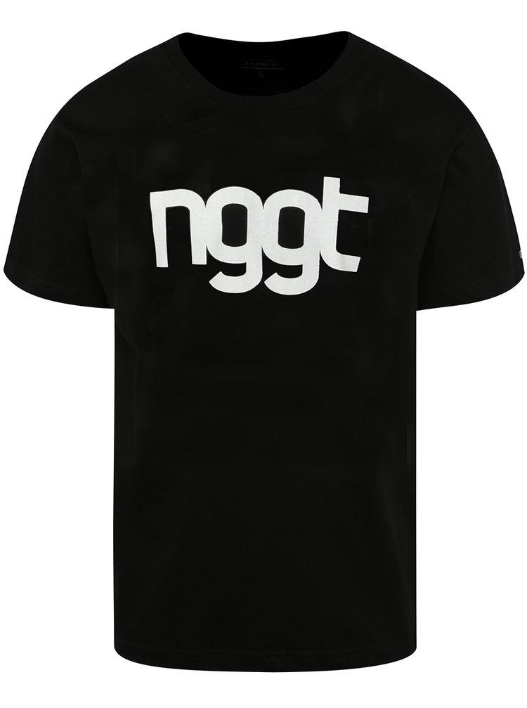 Tricou negru cu print NUGGET Extend pentru bărbați