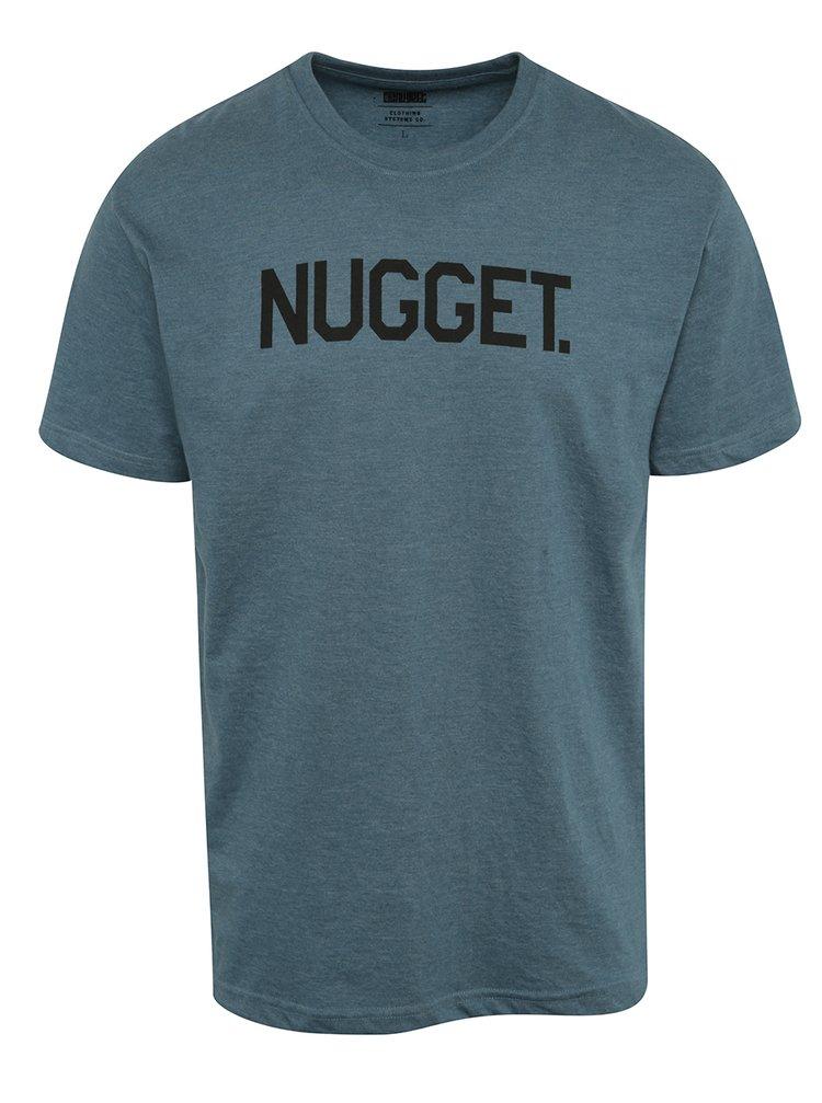 Tricou albastru cu print NUGGET Logo pentru bărbați