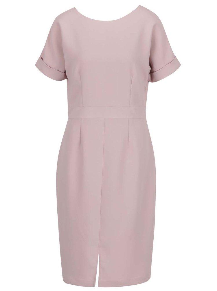 Starorůžové šaty s krátkým rukávem Selected Femme New Smile