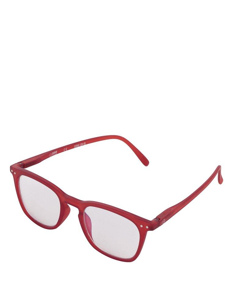 Červené unisex ochranné okuliare k PC IZIPIZI #E