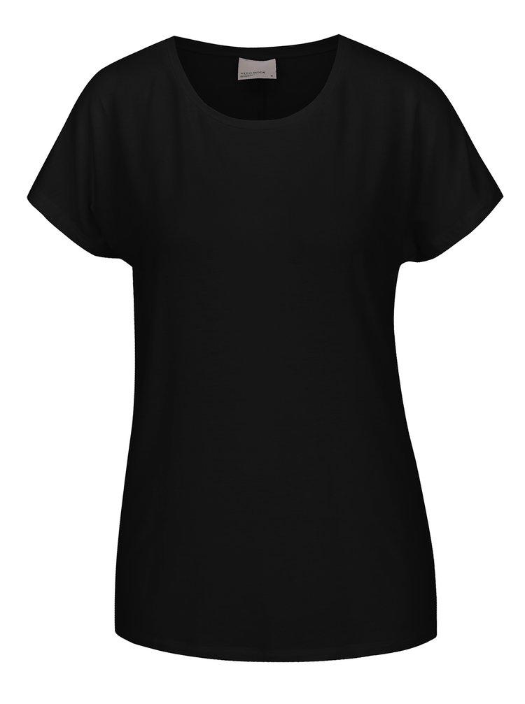 Tricou negru basic VERO MODA Charly