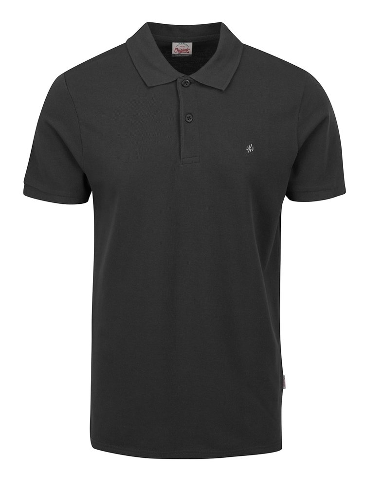 Tricou polo gri inchis Jack & Jones Perfecto