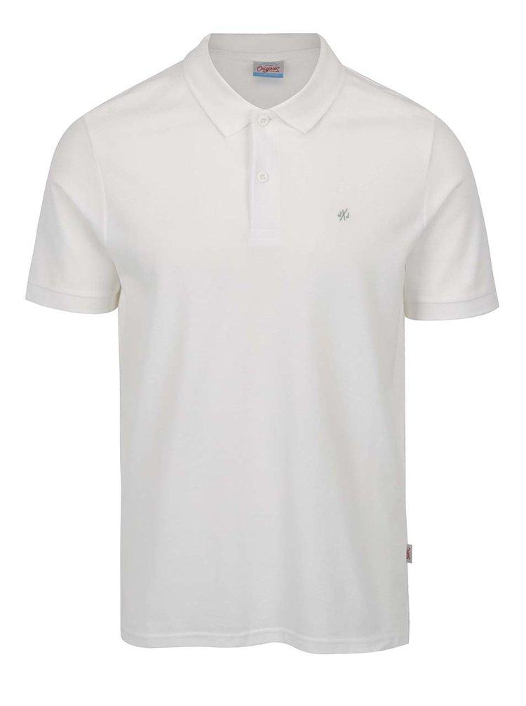 Krémové polo tričko Jack & Jones Perfecto
