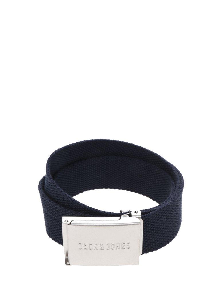 Tmavě modrý pásek s kovovou přezkou Jack & Jones Solid