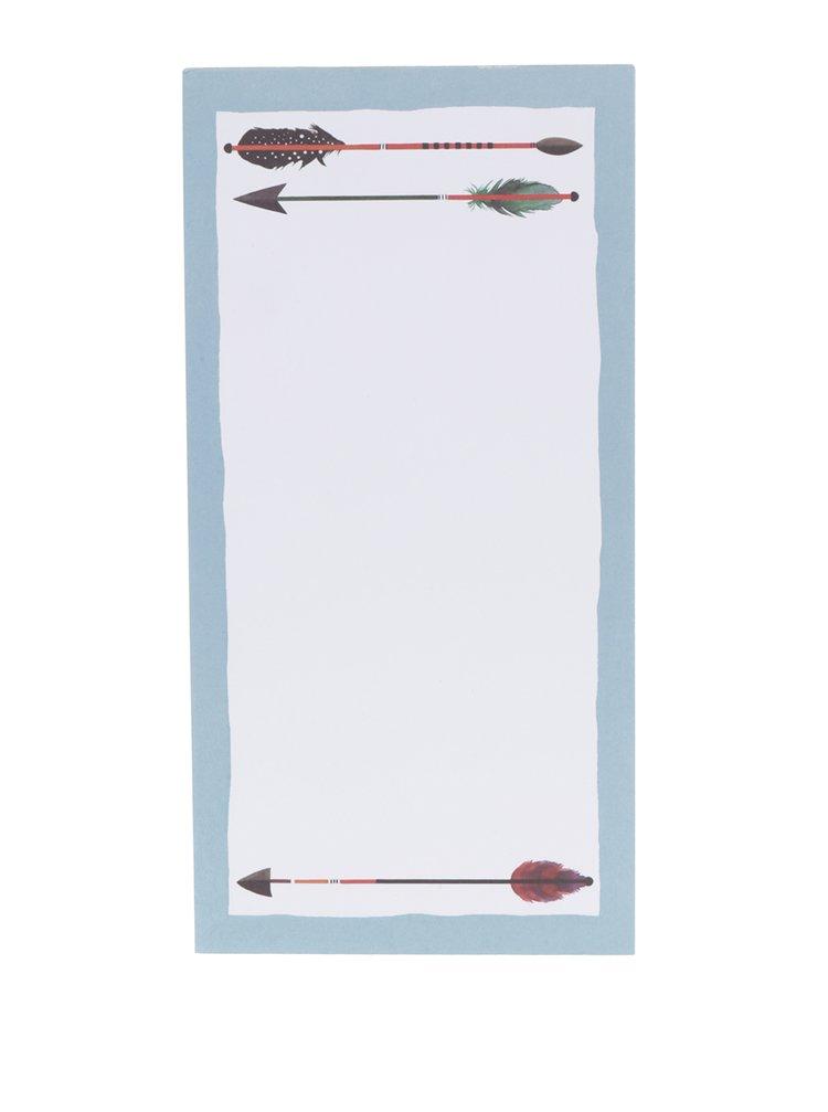 Modro-bílý odtrhávacá blok s listy na odtržení Galison