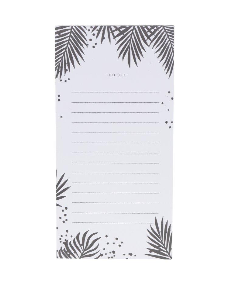 Čierno-biely poznámkový blok s listami na odtrhnutie Galison