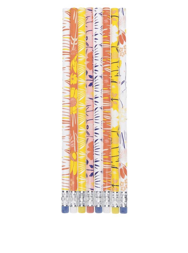 Sada osmi barevných vzorovaných tužek Galison