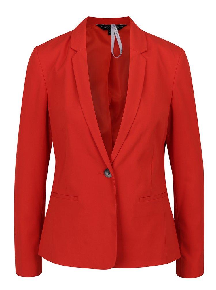 Sacou roșu Dorothy Perkins cu revere ample