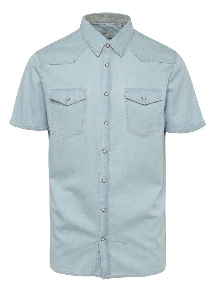 Světle modrá džínová košile s krátkým rukávem Blend