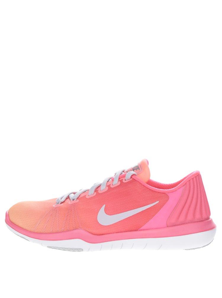 Růžovo-oranžové dámské tenisky Nike Flex Supreme