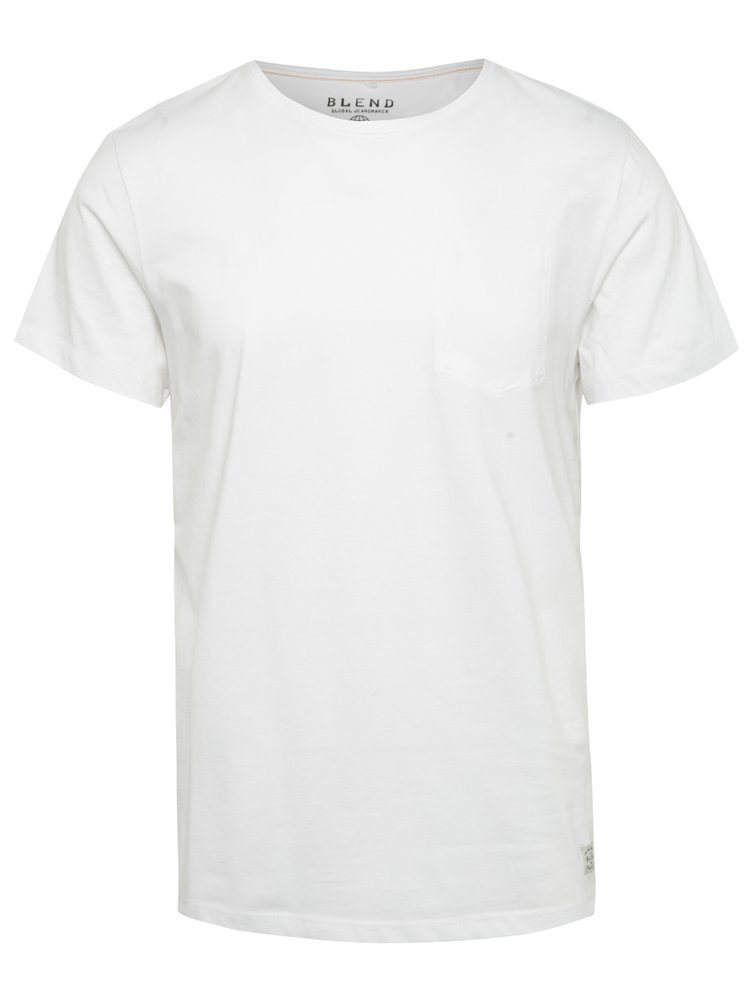 Tricou alb Blend din bumbac