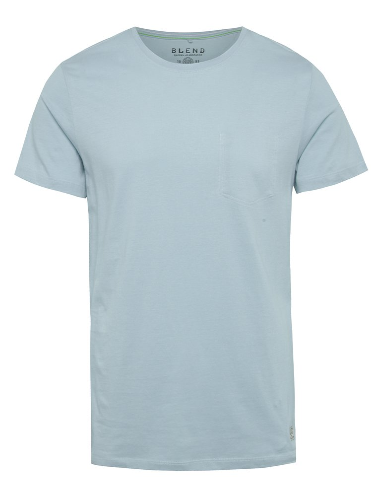Tricou albastru deschis Blend din bumbac