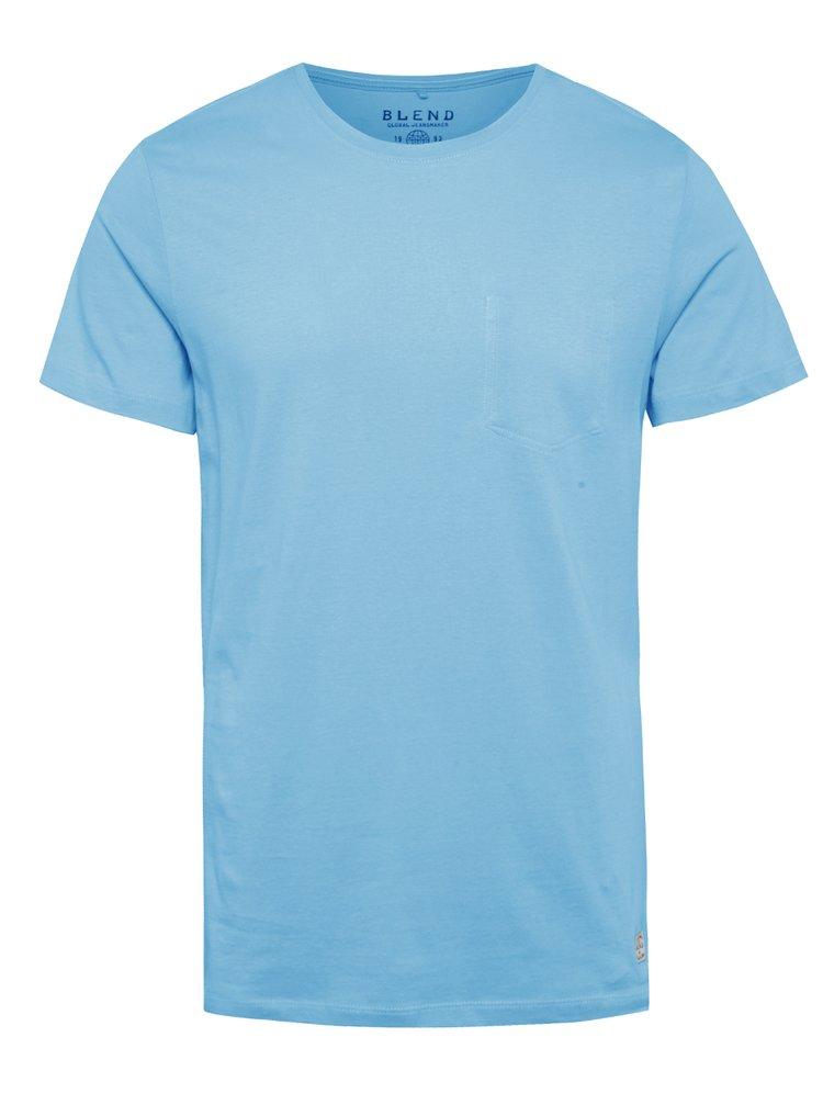 Modré regular fit triko s imitací náprsní kapsy Blend